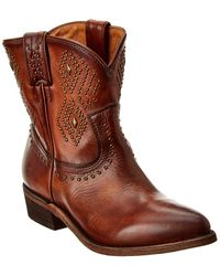 Frye Billy Stud Short Leather Boot - Brown