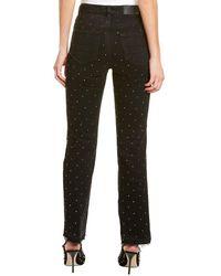 Amiri Crystal Embellished High-rise Straight Jean - Black
