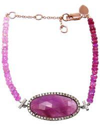 Meira T 14k 6.23 Ct. Tw. Diamond & Ruby Bracelet - Multicolor