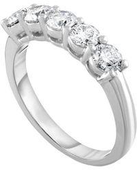 Diana M. Jewels . Fine Jewellery Platinum 1.25 Ct. Tw. Diamond Ring - Metallic