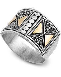 Samuel B. Fine Jewellery 18k & Silver Ring - Metallic