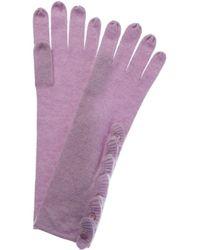 Forte Cashmere Ruffle Glove - Purple
