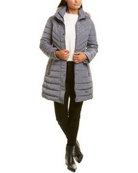 Kenneth Cole Quilted Coat - Grey