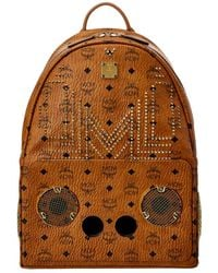 MCM X Wizpak Studded Visetos Backpack - Brown