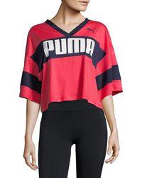 PUMA Urban Sports Cropped T-shirt - Pink