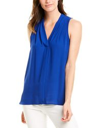 Vince Camuto V-neck Blouse - Blue