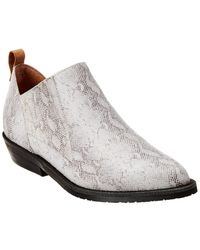 Gentle Souls By Kenneth Cole Neptune Western Leather Bootie - White