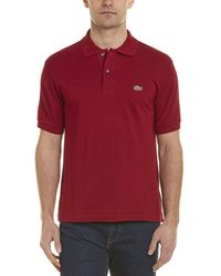 Lacoste L1212 Classic Fit Polo Shirt - Red