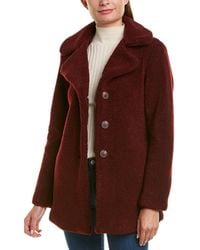 Laundry by Shelli Segal Teddy Coat - Red