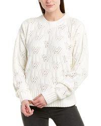 BCBGMAXAZRIA Fuzzy Pullover - White