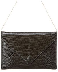 The Row Envelope Lizard-embossed Leather Wallet On Chain - Green