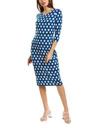 Diane von Furstenberg Saihana Silk-jersey Sheath Dress - Blue