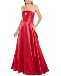 ML Monique Lhuillier Off-the-shoulder Strapless Gown - Pink