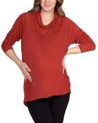 Lamade Cowl Neck Top - Red
