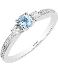 Le Vian - ® 14k 0.41 Ct. Tw. Diamond & Aquamarine Ring - Lyst