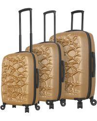Mia Toro Web Hardside 3pc Luggage Set - Multicolour