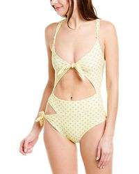 For Love & Lemons Limoncello One Piece - Yellow