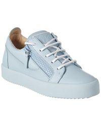 Giuseppe Zanotti Gail Leather Sneaker - Blue