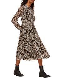 Whistles Brushmark Animal Print Dress - Multicolour