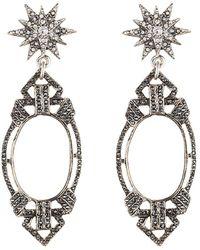 Lulu Frost - Sprite Lillet Plated Crystal Drop Earrings - Lyst
