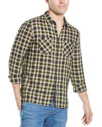 John Varvatos Slim Fit Wool-blend Shirt - Yellow
