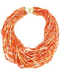 Arthur Marder Fine Jewelry 18k Coral Necklace - Orange
