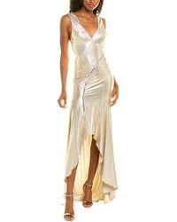 Galvan London Releve Gown - Metallic