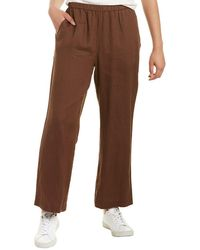 Eileen Fisher Ankle Length Linen Pant - Brown