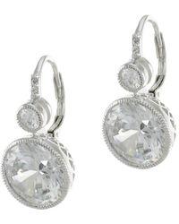 CZ by Kenneth Jay Lane - 18k Plated Earrings - Lyst