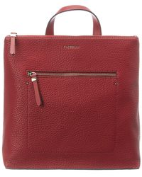 Fiorelli Finley Large Leather Backpack - Red