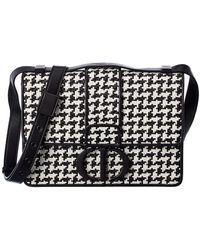 Dior 30 Montaigne Leather Shoulder Bag - Black