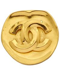 Chanel - Gold-tone Cc Pin - Lyst