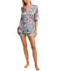 Karen Mabon 2pc Pyjama Shirt & Short Set - Grey