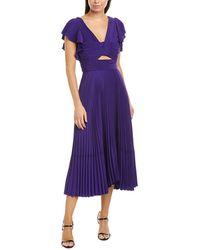 A.L.C. Sorrento Midi Dress - Purple