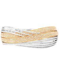 Diana M. Jewels . Fine Jewellery 18k Two-tone 7.06 Ct. Tw. Diamond Bangle - Metallic