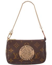 Louis Vuitton Limited Edition Trunks & Bags Monogram Canvas Mini Pochette Accessoires - Brown