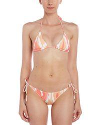 Melissa Odabash Portugal String Bottom - Pink