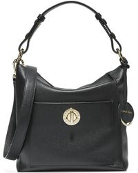 Cole Haan Small Turnlock Leather Shoulder Bag - Black