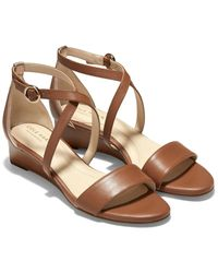 Cole Haan - Hollie Leather Wedge - Lyst