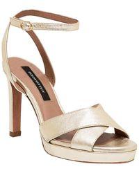 BCBGMAXAZRIA Leah Leather Sandal - Multicolor
