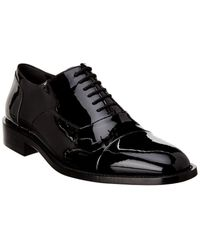 Balenciaga Lace-up Patent Oxford - Black