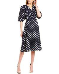 Gracia Midi Dress - Blue