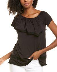 Lyssé Stretch Knit Top - Black