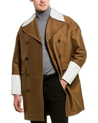 Valentino Double-breasted Silk-blend Coat - Natural