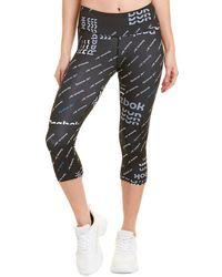Reebok Workout Ready Capri Legging - Black