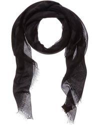 Valentino Valentino Garavani Cashmere & Silk-blend Scarf - Black