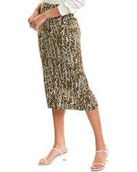 Diane von Furstenberg Kara Silk-blend Pencil Skirt - Multicolour