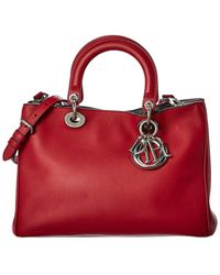 Dior Red Calfskin Leather Two-way Bag
