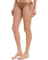 Ella Moss Lace-up Sides Bikini Bottom - Brown