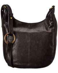 Frye Madison Leather Crossbody - Black